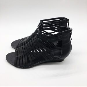 Franco Sarto Shoes - Franco Sarto Black Gladiator Sandal Size 7.5